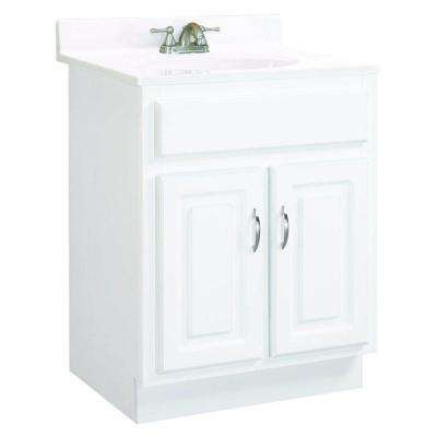 Concord 24 in. W x 21 in. D Two Door Unassembled Vanity Cabinet Only in White Gloss