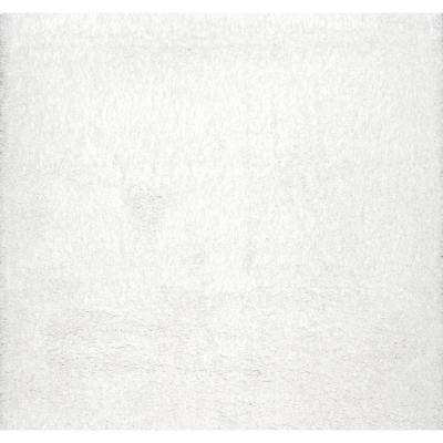 Gynel Cloudy Shag Snow White 7 ft. 10 in. x 7 ft. 10 in. Square Rug