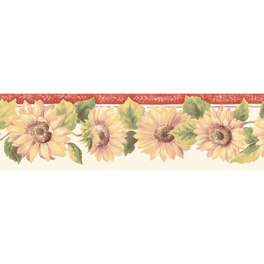 Tulip Wallpaper: Norwall Mini Tulip Wallpaper Border-KC78356DC