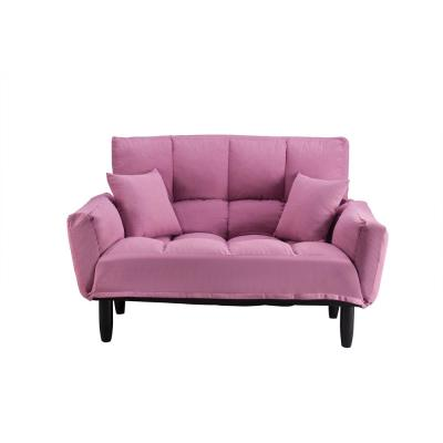 Modern Pink with Support Legs Sleeper Sofa and Bed ( Twin Size)