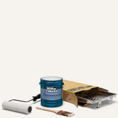 1 gal. #75 Polar Bear Ultra Satin Enamel Interior Paint and 5-Piece Wooster Set All-in-One Project Kit