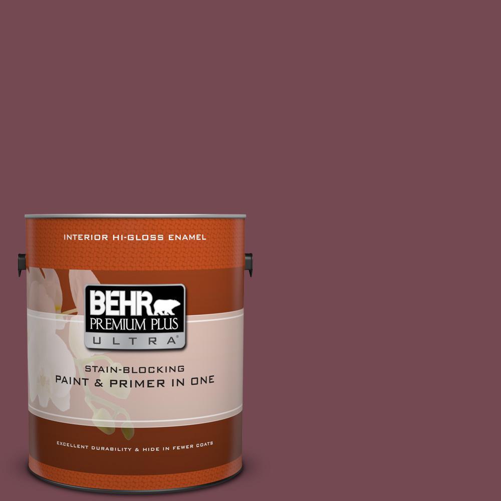 1 gal. #PPU2-20 Oxblood Hi-Gloss Enamel Interior Paint