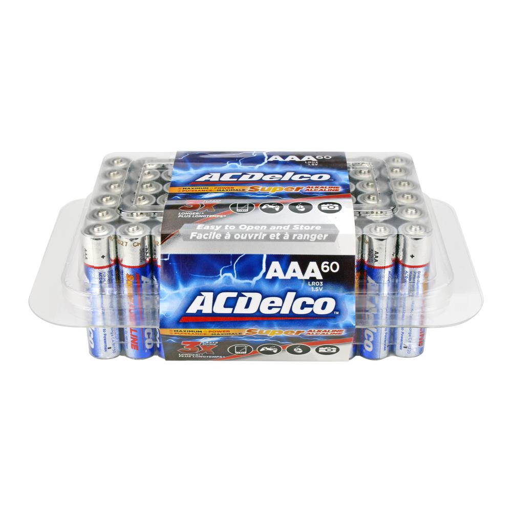 60 of AAA Alkaline Batteries with Recloseble Box
