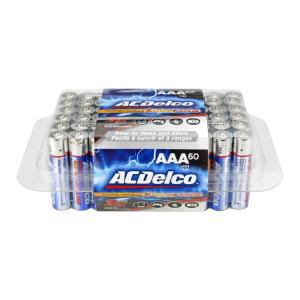 ACDelco 60 of AAA Alkaline Batteries with Recloseble Box by ACDelco