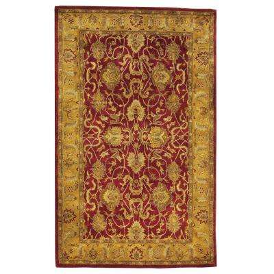 Rochelle Red 8 Ft X 11 Area Rug Black