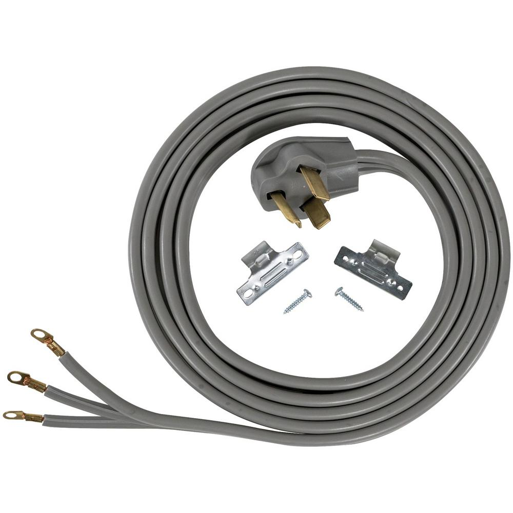 CERTIFIED APPLIANCE ACCESSORIES 10 ft. 10/3 3-Wire Closed-Eyelet 30-Amp Dryer Cord For years, licensed plumbers, electricians, and appliance installers have relied on CERTIFIED APPLIANCE ACCESSORIES for their power cords, hoses, and connectors. Now you can too. Enjoy the convenience offered by this dryer cord from CERTIFIED APPLIANCE ACCESSORIES. Its flexibility and durability ensure reliable connections for your next home installation project. This high-quality dryer cord has been thoroughly tested and is backed by a 5-year limited warranty. Follow the illustrated, step-by-step directions included in the packaging. Always consult your appliances installation instructions. Check your appliances manual for the correct specifications to ensure this is the right cord for you. Thank you for choosing CERTIFIED APPLIANCE ACCESSORIES Your Appliance Connection Solution.