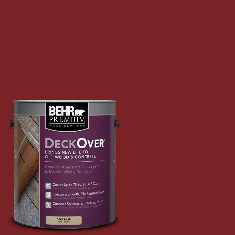 BEHR Premium DeckOver 1 gal. #SC-112 Barn Red Wood and Concrete Coating