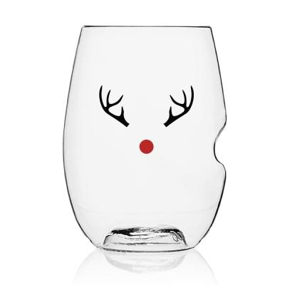 4-Piece Holiday Assorted Red Wine Glass Set