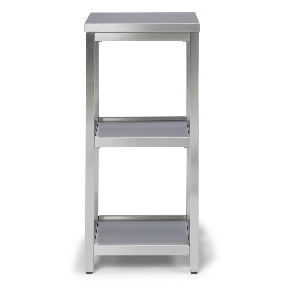 Bold W-13, D-11, H-28 Stainless Steel 3 Tier Bath Shelf Space