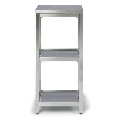 Bold W-13, D-11, H-28 Stainless Steel 3 Tier Bath Shelf Space Saver