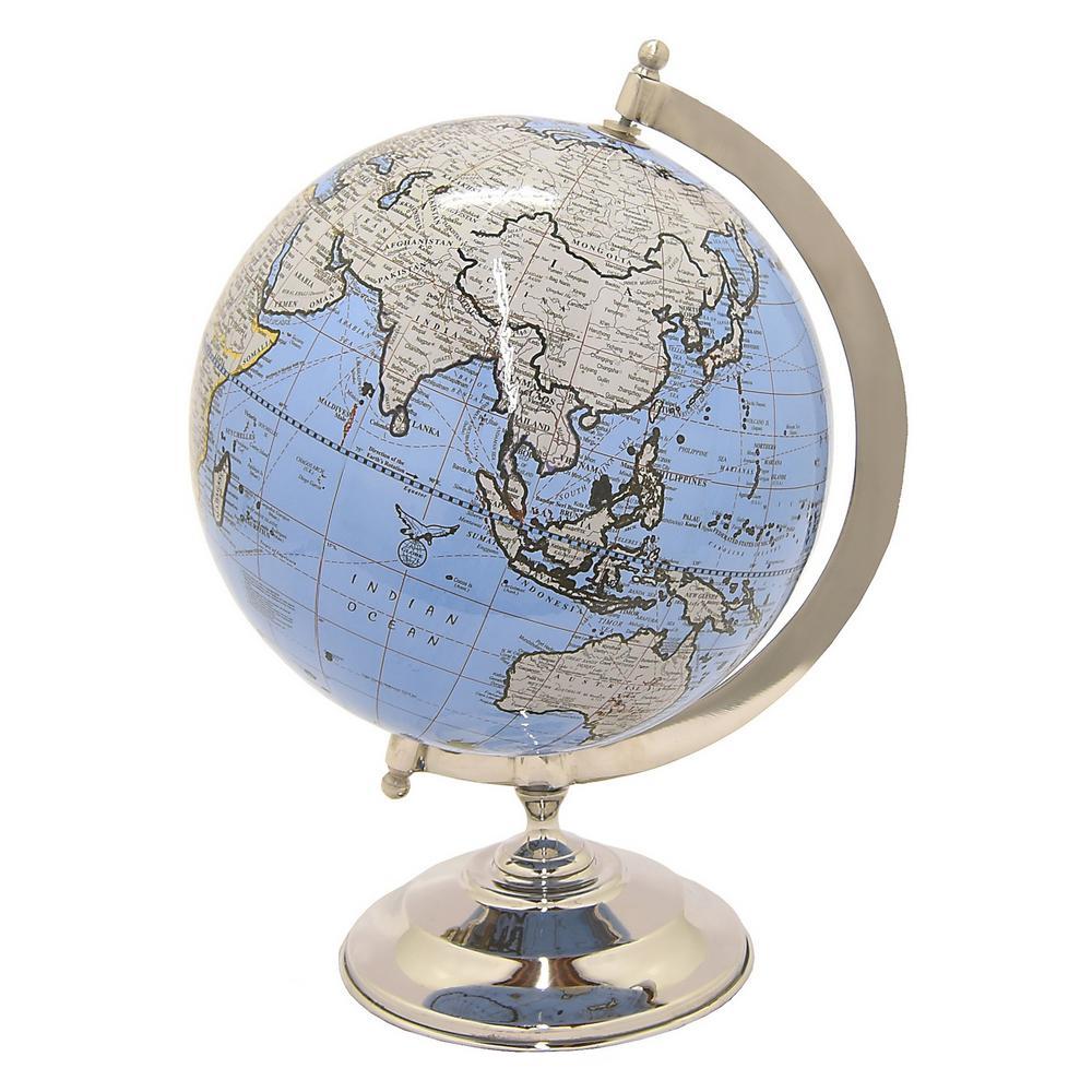 8 in. x 8 in. Globe 8 in. - Nickel Base in Blue