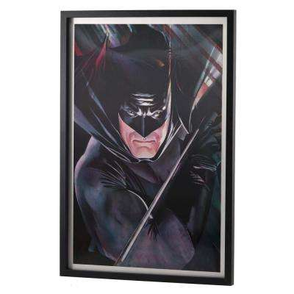 "28 in. x 19 in. ""Batman"" by Alex Ross Printed Framed Lenticular Wall Art"