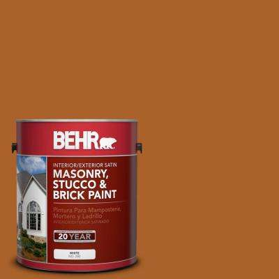 1 gal. #SC-533 Cedar Naturaltone Satin Interior/Exterior Masonry, Stucco and Brick Paint