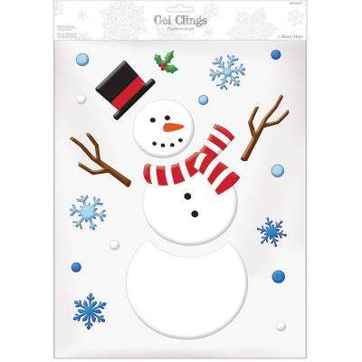 11 in. Snowman Gel Clings (3-Pack)