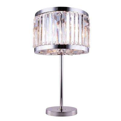 Chelsea 32 in. Polished Nickel Table Lamp with Clear Crystal