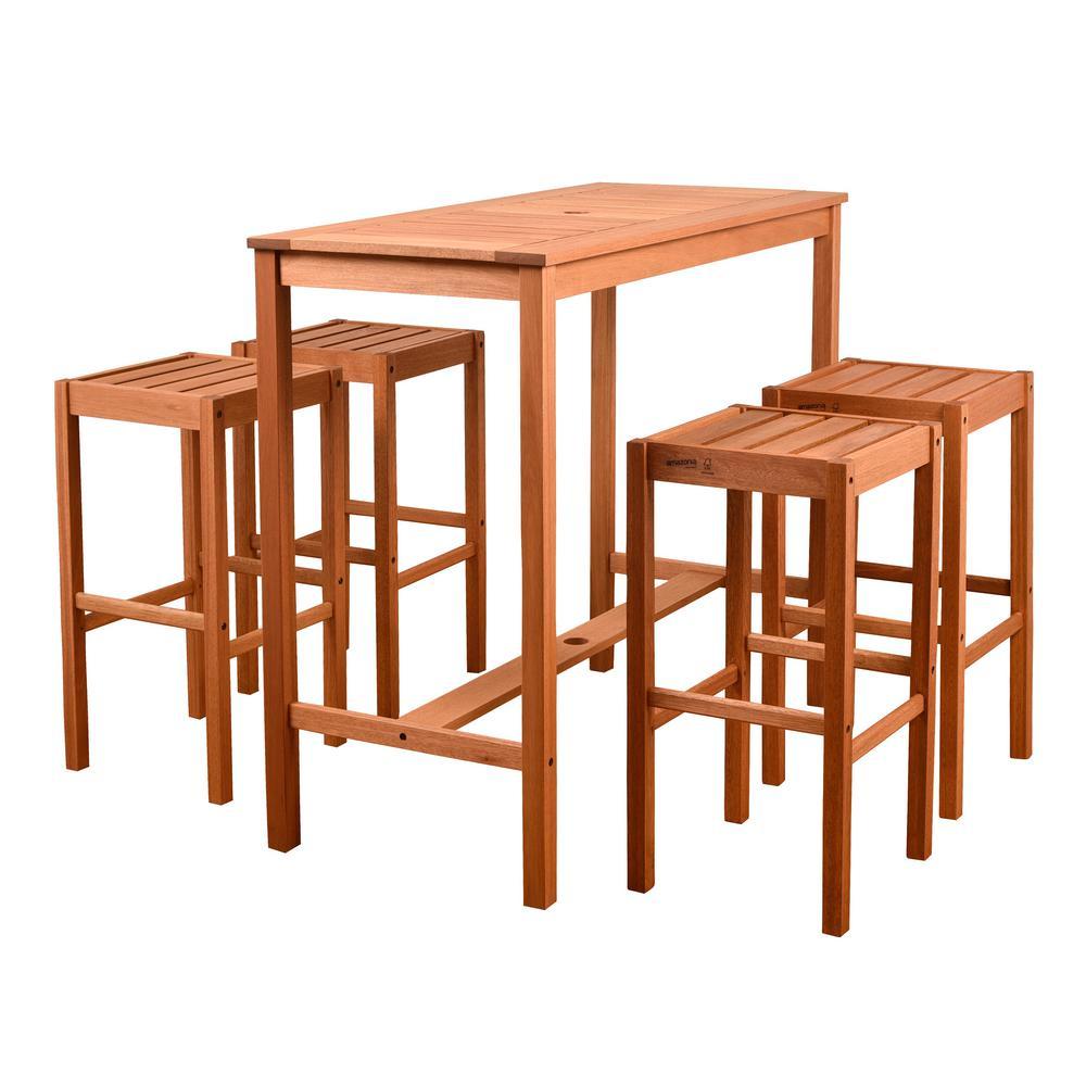 Eden 5 Piece Rectangular Patio Dining Set