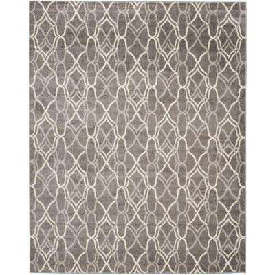 Amherst Gray/Light Gray 8 ft. x 10 ft. Indoor/Outdoor Area Rug