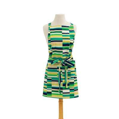 Steps Modern Retro Print Cotton Butcher's Apron, Green
