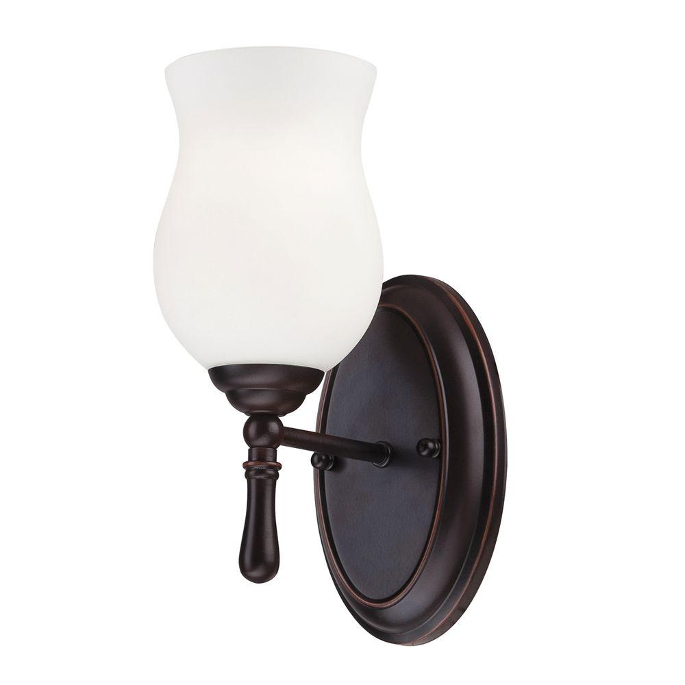 Eurofase Regency Collection 1-Light Oil Rubbed Bronze Wall Sconce-DISCONTINUED