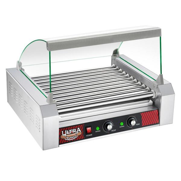 Great Northern Commercial 30-Hot Dog 11-Roller Grilling Machine with Cover