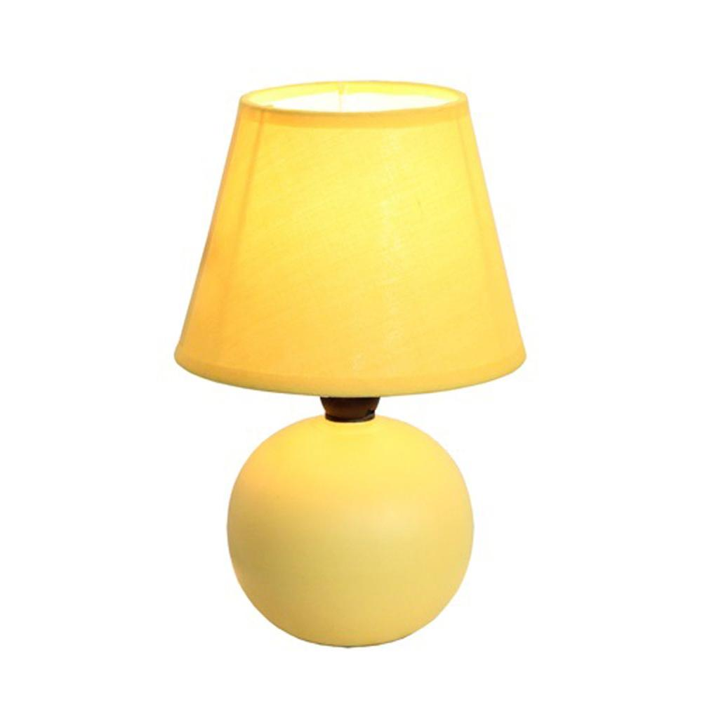 Merveilleux Yellow Ceramic Globe Mini Table Lamp