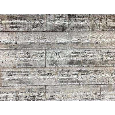 1/4 in. x 5 in. x 2 ft. Whitewash Reclaimed Smart Paneling 3D Barn Wood Wall Plank (Design 4) (12 -Case)
