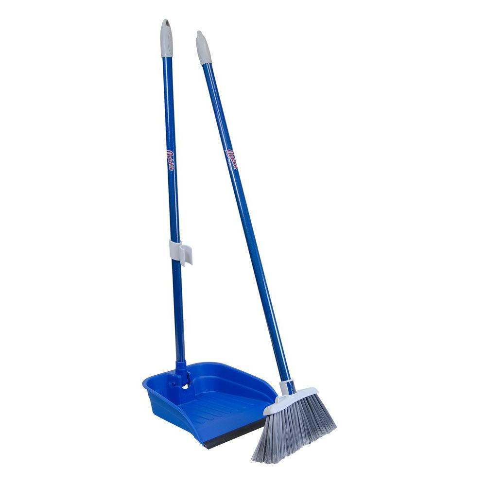 quickie stand and store lobby broom and dustpan set 4871zqk the home depot. Black Bedroom Furniture Sets. Home Design Ideas