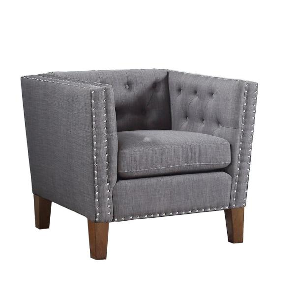 Strange Campbell Grey Accent Chair Caraccident5 Cool Chair Designs And Ideas Caraccident5Info