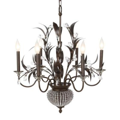 Cristal de Lisbon 8-Light Bronze Crystal Chandelier