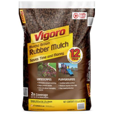 0.8 cu. ft. Mocha Brown Bagged Rubber Mulch