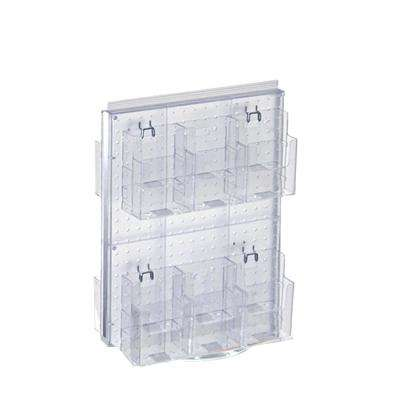 20 in. H x 16 in. W Revolving Pegboard Counter Display with 12-Brochure Pockets