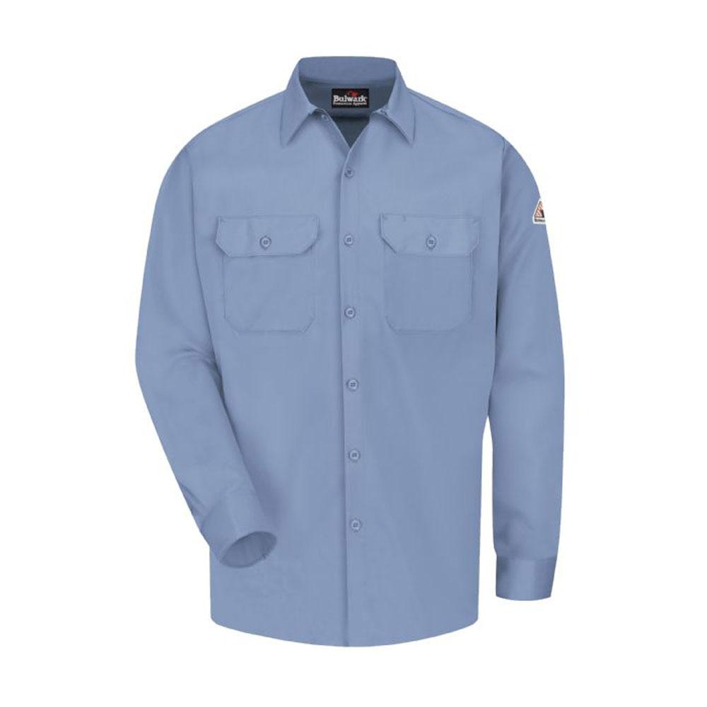 dde4e81e6d1 Bulwark EXCEL FR ComforTouch Men s Small Light Blue Work Shirt ...