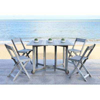 Arvin Gray Wash 5-Piece Patio Dining Set