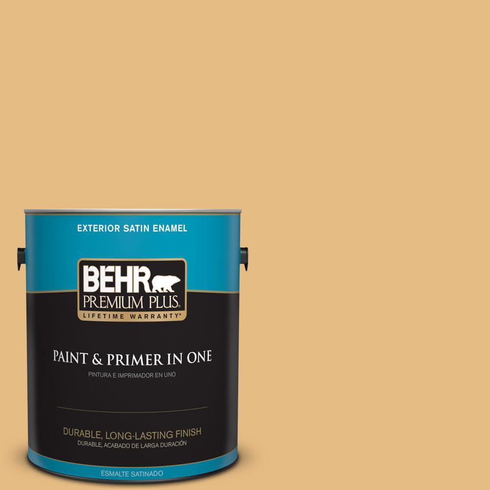 BEHR Premium Plus 1-gal. #320D-4 Arizona Tan Satin Enamel Exterior Paint