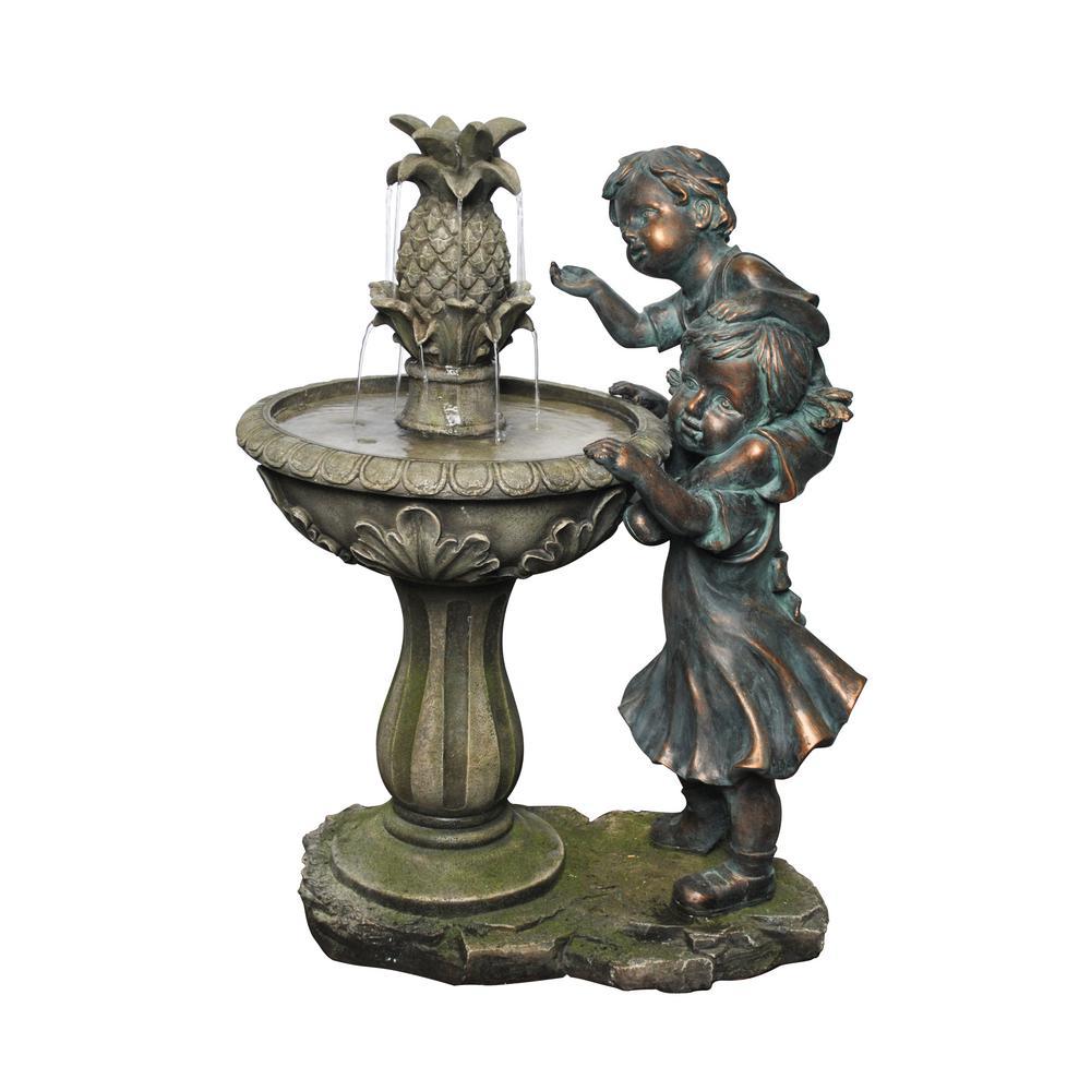 Alpine 27 inch Boy and Girl Fountain by Alpine