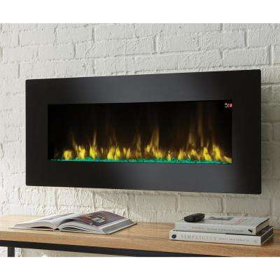 42 in. Infrared Wall Mount Electric Fireplace in Black