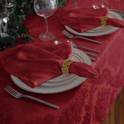 17 in. W x 17 in. L Elrene Barcelona Damask Red Fabric Napkins (Set of 4)