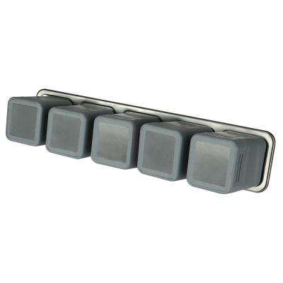 Magnetic Storage Bar with 5-Compartment Small Parts Organizer