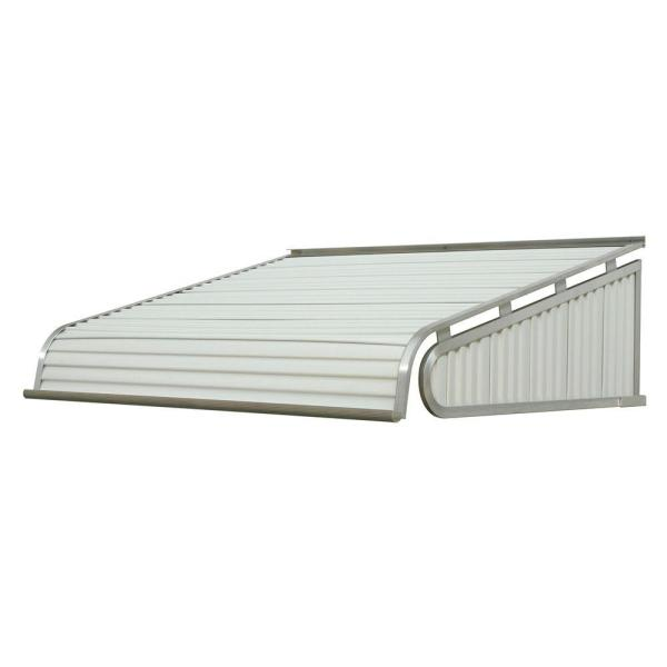 5 ft. 1500 Series Door Canopy Aluminum Awning (12 in. H x 42 in. D) in White