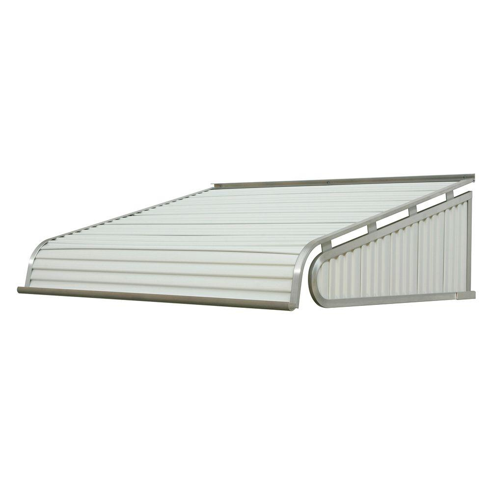 NuImage Awnings 5 ft. 1500 Series Door Canopy Aluminum Awning (12 in. H x 42 in. D) in White