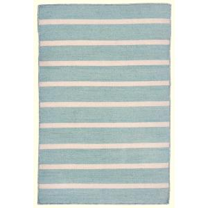 Tasso Bantam Stripe Water 2 ft. x 3 ft. Rectangle Indoor/Outdoor Area Rug