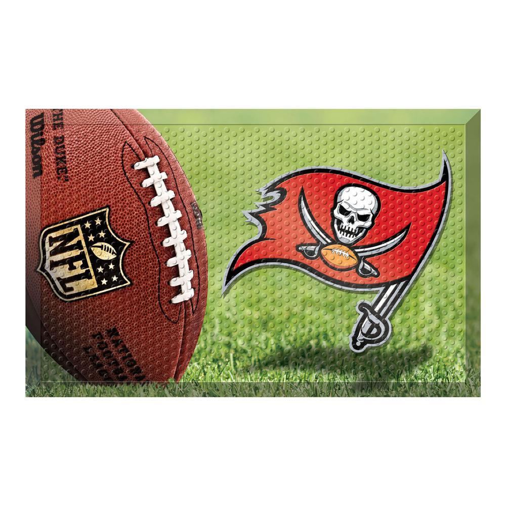 8db75818 FANMATS NFL - Tampa Bay Buccaneers 19 in. x 30 in. Indoor/Outdoor Scraper  Mat Door Mat