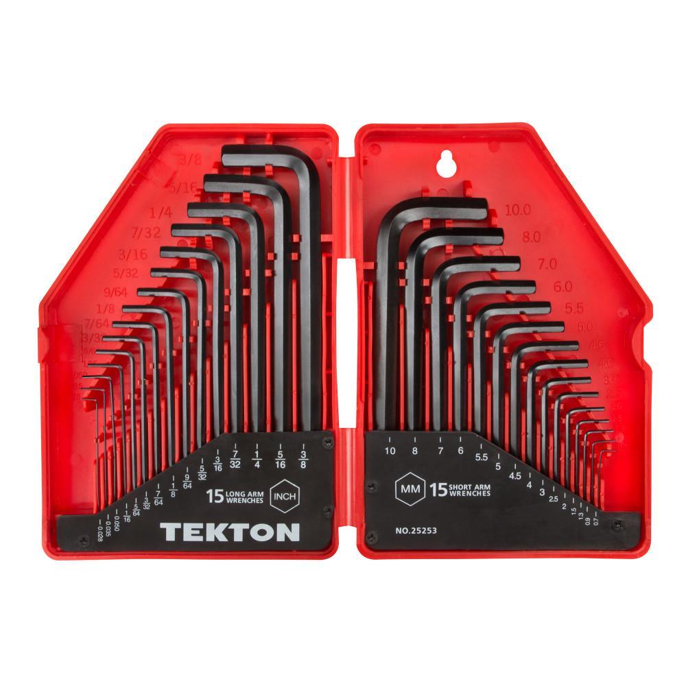 """SAE Inch Sizes 5//64/"""" through 3//8/"""" 8 Piece Premium T Handle Hex Allen Key Set"""