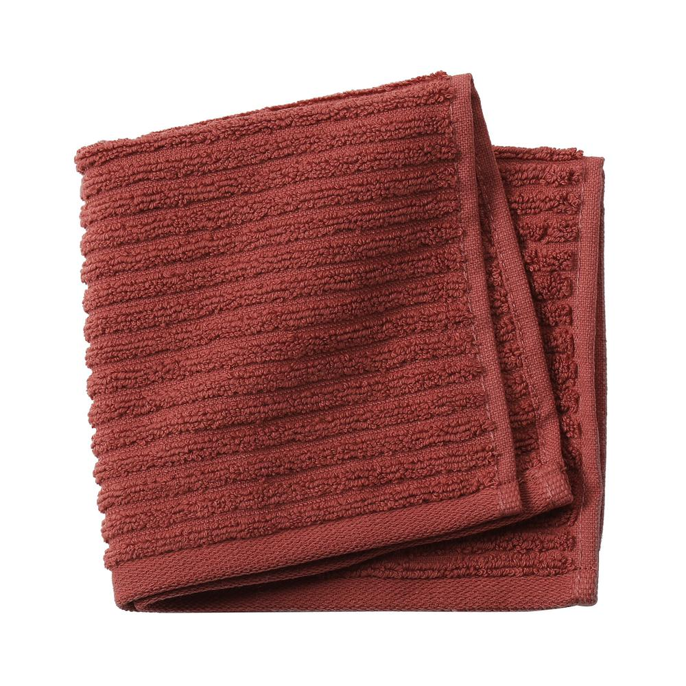 Monterey 1-Piece Ribbed Turkish Face Towel in Brick