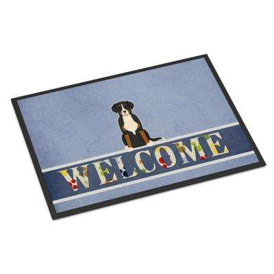 18 in. x 27 in. Indoor/Outdoor Greater Swiss Mountain Dog Welcome Door Mat