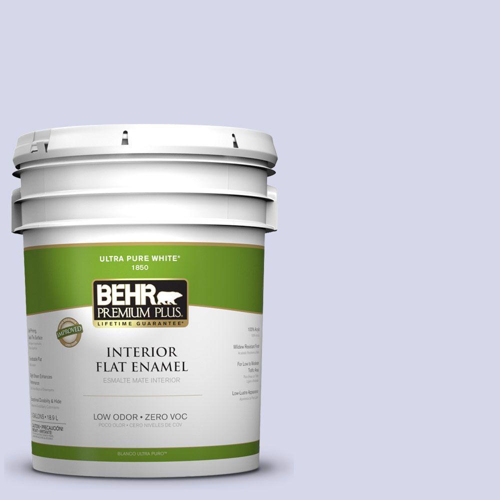 BEHR Premium Plus 5-gal. #T12-17 Violet Water Zero VOC Flat Enamel Interior Paint-DISCONTINUED