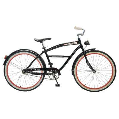 Knuckle Duster Cruiser 26 in. Wheels Oversized Frame Men's Bike in Black