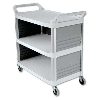 Xtra Utility Cart with Enclosed End Panels and Sidein Off White