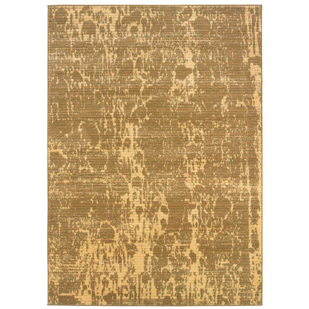 LR Resources Splash Design with Rich Creams and Berbers 7 ft. 9 in. x 9 ft. 10 in. Indoor Area Rug