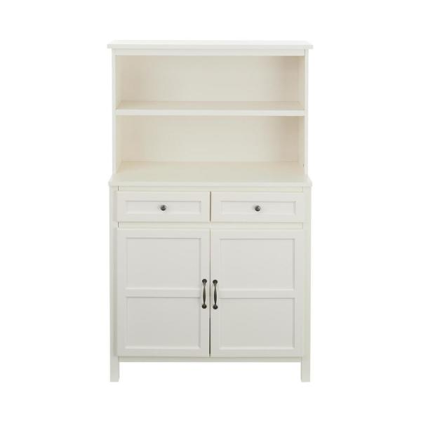 StyleWell Ivory Wood Transitional Kitchen Pantry (36 in. W x 58 in. H)